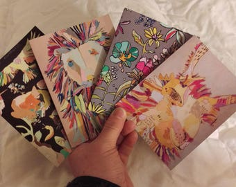 Greeting Cards Group 2 'Your Choice' blank Jennifer Mercede set of 5
