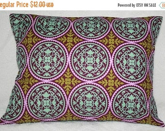 "20% OFF SALE Lumbar Travel Pillow Cover -Joel Dewberry Aviary 2 Ironwork in Lilac - 12""X16"" (#31*)"
