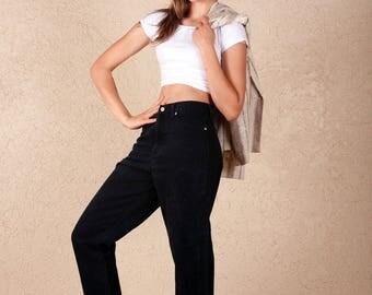 90's  Bill Blass Black High Waist Jeans 29.