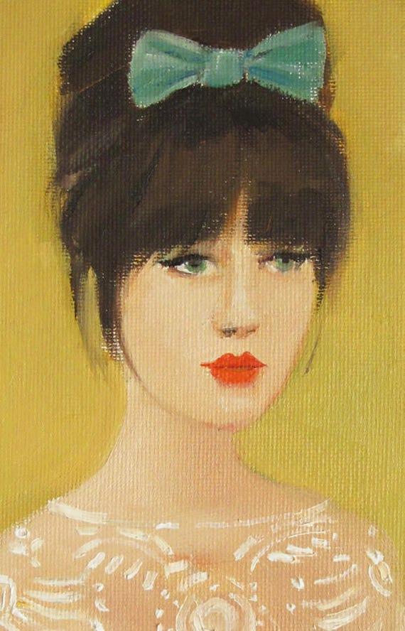 Miss Mews. Art Print.