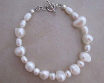 pearl bracelet white sterling silver