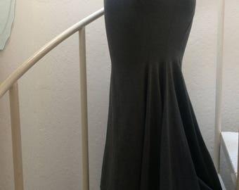 Heather Grey Boho Maxi Asymmetrical Mermaid Lizzy Skirt