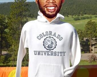 vintage 70s hoodie sweatshirt university COLORADO boulder buffaloes college Large Medium 80s
