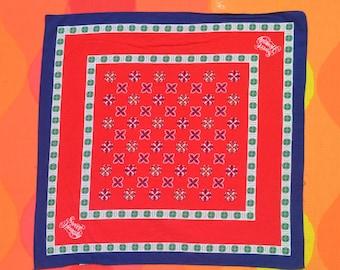 80s vintage BANDANA avon sweet honesty scarf red bandanna handkerchief usa