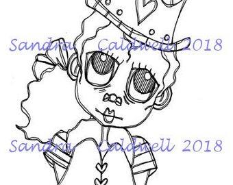 2076 Love Princess Digi Stamp