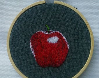 Embroidered Red Delicious Apple