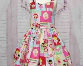 SALE Fairy Dress, Fairy Girl Dress, Pink Girl Dress, Pink Lace Dress, Flower Girl Dress, Toddler Pink Dress, Pink Bow, Pageant Girl Dress