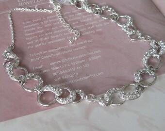 Bridal Jewelry - Bride Necklace - Bridesmaid Necklace - Rhinestone Necklace Wedding Jewelry Wedding Necklace