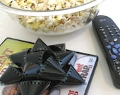 Film Reel Gift Packaging Bows - Set of 3 Bows from Gangs of New York - Repurposed Movie Film - 35mm Film Bows for Gift Wrapping - Hollywood