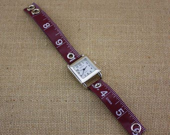 LIMITED TIME ONLY! Tape Measure Watch in Brown - Square Face
