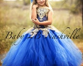 Royal Blue Dress Gold Dre...