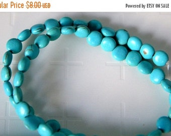 75% OFF CLEARANCE SALE Magnesite Flat Round,8mm gemstone Beads, 15 inch Strand