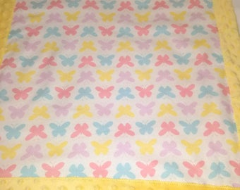 Butterflies Lovey/Security Blanket