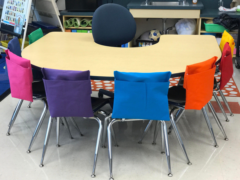 25 Classroom Chair Pockets Seat Sacks Desk Organizer Chair Bag