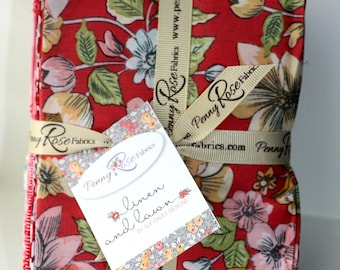 SALE 21 Fat Quarters -LINEN and LAWN fabric by Sue Daley from Penny Rose Fabric