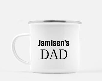 New Dad Gift. Adoption gift. Camp Mug. Father's Day Gift. Personalized Mug. Cast Iron Mug. Coffee Mug. Husband gift. Camping Mug