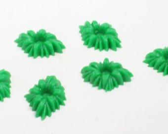 Green Shrubs Bushes - Set of 12 pcs vintage shrub miniature shrub figurine doll house shrub fairy garden gnome home craft shrubs - IV3-3610