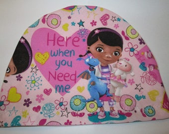 Kids Doc McStuffins Sayings Lightweight Hat -Chemo, Cancer, Alopecia, Sleep Cap,  Chemo Hat