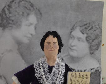 Annie Sullivan Macy Doll Miniature Art Collectible Historical Teacher