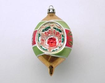 Vintage Christmas Ornament Glass Ornament Christmas Decoration Teardop Indent