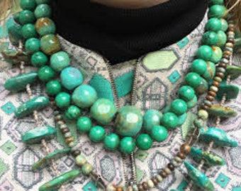 Native pawn turquoise neklaces
