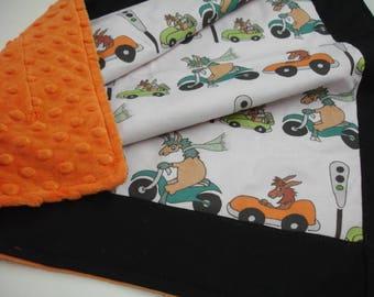 Go Llamas Go Minky Blanket MADE TO ORDER No Batting