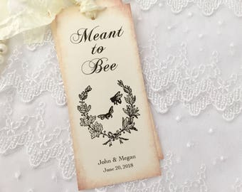 Meant to Bee Favors Meant to Bee Bookmarks, Wedding Bee Bookmarks, Set of 10