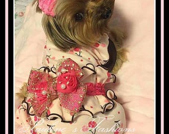 Ruffled Bum Pajamas to Order Cherries and Rosebuds  Hello Kitty and Others