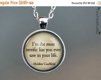 ON SALE - Catcher (Liar) Quote jewelry. Necklace, Pendant or Keychain Key Ring. Perfect Gift Present. Glass dome metal charm by HomeStudio