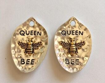 Queen Bee Pendant-Two Honey Bee Pendants