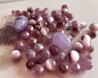 Lavender Bead Mix-Loose Beads