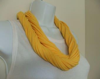 T-Shirt Infinity Scarf/Necklace Kente Fabric Embelished