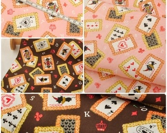 4421 - Japanese Poker Twill Cotton Fabric - 43 Inch (Width) x 1/2 Yard (Length)