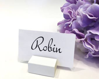 Wedding Place Card Holder + White Place Card Holders +Name Card Holder (Set of 25)