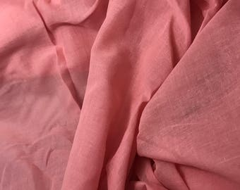 Cotton LAWN VOILE Fabric - Rosy Pink - 1 Yard