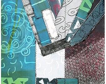 Bohemian art for bedroom wall| Livingroom art decor| Wall art blue for living room| Contemporary wall decor for livingroom| Mixed media art