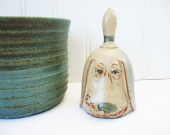 vintage  dog pottery bell  UCTCI or Gempo bloodhound