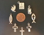 8 Small Christian/Inspirational Charms - Low Shipping