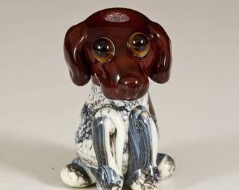German Short Hair Pointer Lampwork Dog Bead