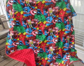 Marvel Retro Comic Collage Blanket and Fitted Crib Sheet Set