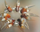 CUSTOM ORDER, please do not buy it - Claws, Cave Painting - Handmade Lampwork Beads Set (SRA)
