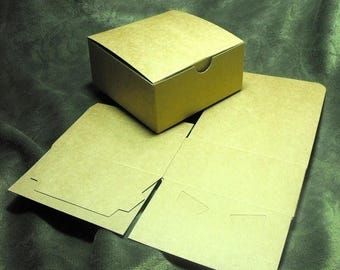 Summer Sale 20 Pack Kraft Brown Paper Tuck Top Style Packaging Retail Gift Boxes 4X4X2 Inch Size
