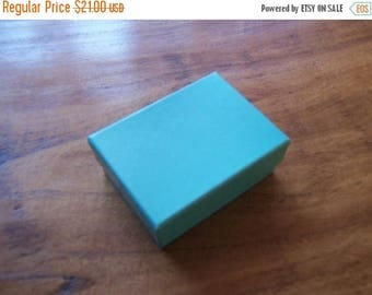 STOREWIDE SALE 100 Pack Teal Blue Cotton Filled 11 Size Cotton Filled Boxes 1  7/8 Inch by 1  1/4 inch by 7/8 Inch Size