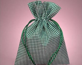 STOREWIDE SALE 12 Pack Cotton Gingham Drawstring Bags  3 X 4 Inch Size Great For Gifts, Favors, Sachets, Weddings