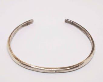 Unisex Silver Cuff, Hammered Cuff, Rustic Silver Bracelet, His and Hers Cuff