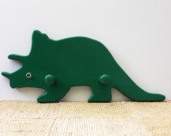 1980s dinosaur coat hook or coat rack, vintage kid's room decor.