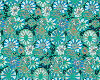 Amy Butler PWTC025 True Colors Daisy Shine Dew Cotton Fabric By Yard