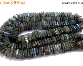 50% Off Sale 16 Inches Strand - Finest Quality Blue Flashy Labradorite Square Heishi Beads Size 5 - 6mm approx, Natural stone Wholesale Pric