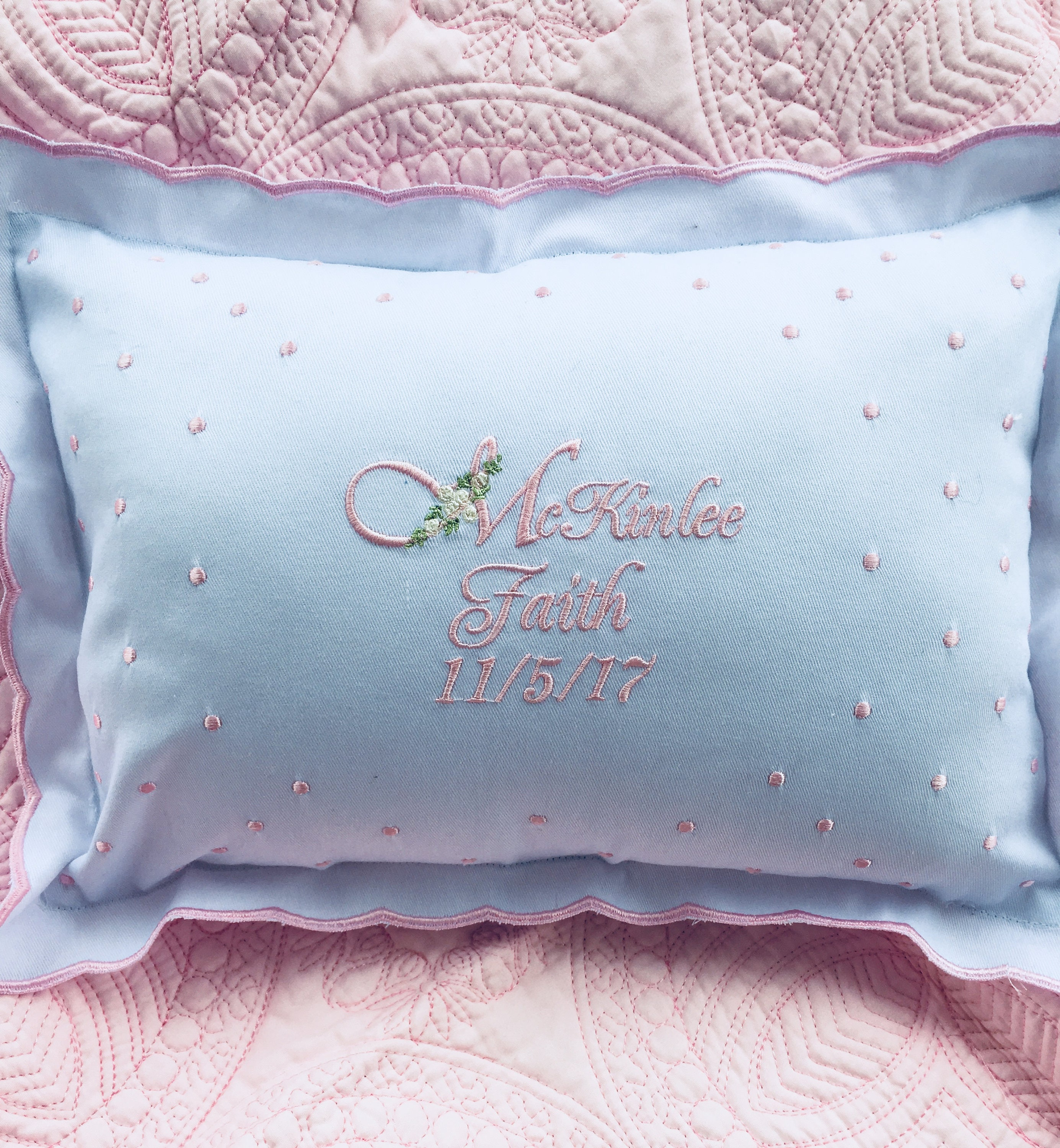 Personalized Baby Pillow, Embroidered baby gift , Baby Shower, Newborn  Gift, Pillows with Sayings, Christening Gifts, Baby Pillow