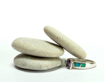 Genuine Beach Stones LUMINARY Large Pebble Spacers Stone Stack River Rock Pebble DIY Jewelry Shimmery Blonde Platinum